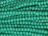 Fac. Rundperlen (1S) - 3mm Opaque Green - Turquoise 31607