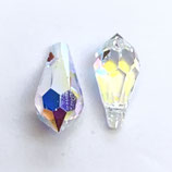 6000 Faceted Teardrop (2) - 11x5.5mm - Crystal AB