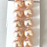 Süsswasserperlen (1P) - Button Pink - 5.5-6mm