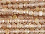 Mineralien·Perlen (1S) - Rutilquarz - facettiert ~3.7mm (870899)