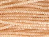 Mini Rondellen (1S) - 1.7x2.5mm Peach - Cream 31982
