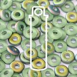 O Beads - Peridot Vitrail Matte