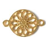 925 Link Blume (1) - filigran 14mm - vergoldet (7537)