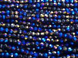 Fac. Rundperlen (1S) - 4mm Dark Metallic - Blue 31491