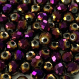 Rondelles (100) - 3x4mm, Metal Purple