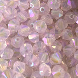 5328 Bicone (50) - 4mm Rose Water - Opal Shimmer 2x