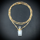 Quarz-Parfüm-Kette (3373·E) - klar/golden