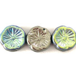CZ Blumen 12x12mm (10) - Green·Blue, Silver