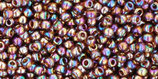 Toho Rocailles  11/0 - Transparent Rainbow - Smoky Topaz (177)