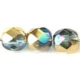 Firepolish Round (100) - 4mm Rainbow Gold
