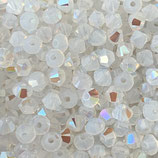 5328 Bicone (50) - 4mm White - Opal Shimmer