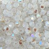 5328 Swarovski (50) - 4mm White - Opal Shimmer
