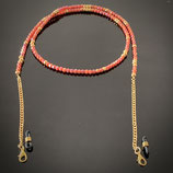 Masken-/Brillenkette (3290) - coral/gold