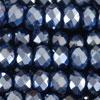 Rondellen (1S) - 2x3mm Silber blau