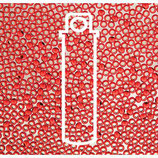 Metal Seed Bead - Red