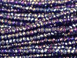 Mini Rondellen (1S) - 1.7x2.5mm Fancy - Purple 31348