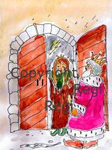 Die Prinzessin auf der Erbse Unterrichtsmaterial D, A, Lateinische Ausgangsschrift,  Kopiervorlage PDF