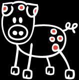 Tier Schwein Sticker (Aufkleber)