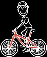 Knabe Radfahren Sticker