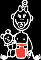 Baby Mädchen Sticker