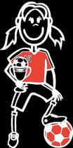 Mädchen Fussball Sticker