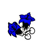 Enzian Blume Lineal