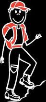 Mann Wandern Sticker