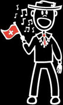 Knabe Singen Sticker (Aufkleber)