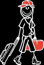 Teenager Knabe Reisen/Ferien Sticker
