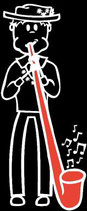 Teenager Knabe Alphorn Sticker