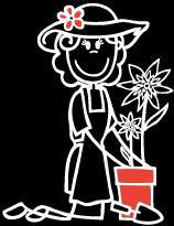 Frau Garten/ Blume Sticker (Aufkleber)