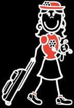 Mädchen Reisen/Ferien Sticker
