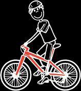 Mann Radfahren Sticker