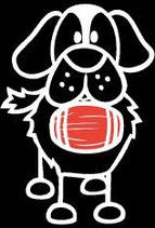 Tier Hund mit Fässchen Sticker