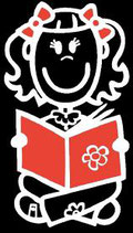 Mädchen Lesen Sticker (Aufkleber)