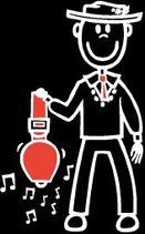 Knabe Glocke Sticker (Aufkleber)