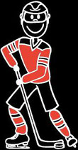 Mann Eishockey Sticker