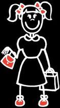 Mädchen Einkaufen Sticker