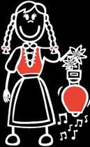 Mädchen Glocke Sticker