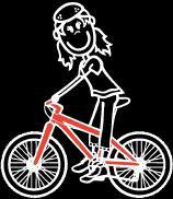 Mädchen Radfahren Sticker