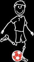 Mann Fussball Sticker