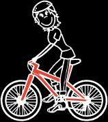 Frau Radfahren Sticker