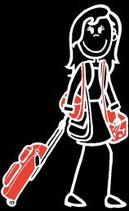Teenager Mädchen Reisen/Ferien Sticker