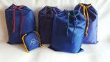 5er Set Aufbewahrungsbeutel Flachbeutel Packtasche blau