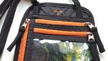 everest1953 Brustbeutel Reisepaßtasche PUMORI RFID schwarz orange Umhängetasche