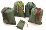 5er Set Aufbewahrungsbeutel Flachbeutel Packtasche grün