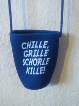"""Schorlehalter """"Chille, grille, Schorle kille!"""""""