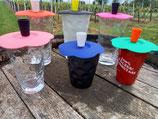 Gläserdeckel mit Dubbeglas-Griff