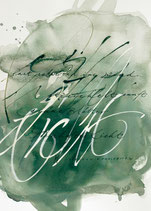 Kalligrafiepostkarte - Juli