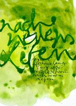 Kalligrafiepostkarte - Mai